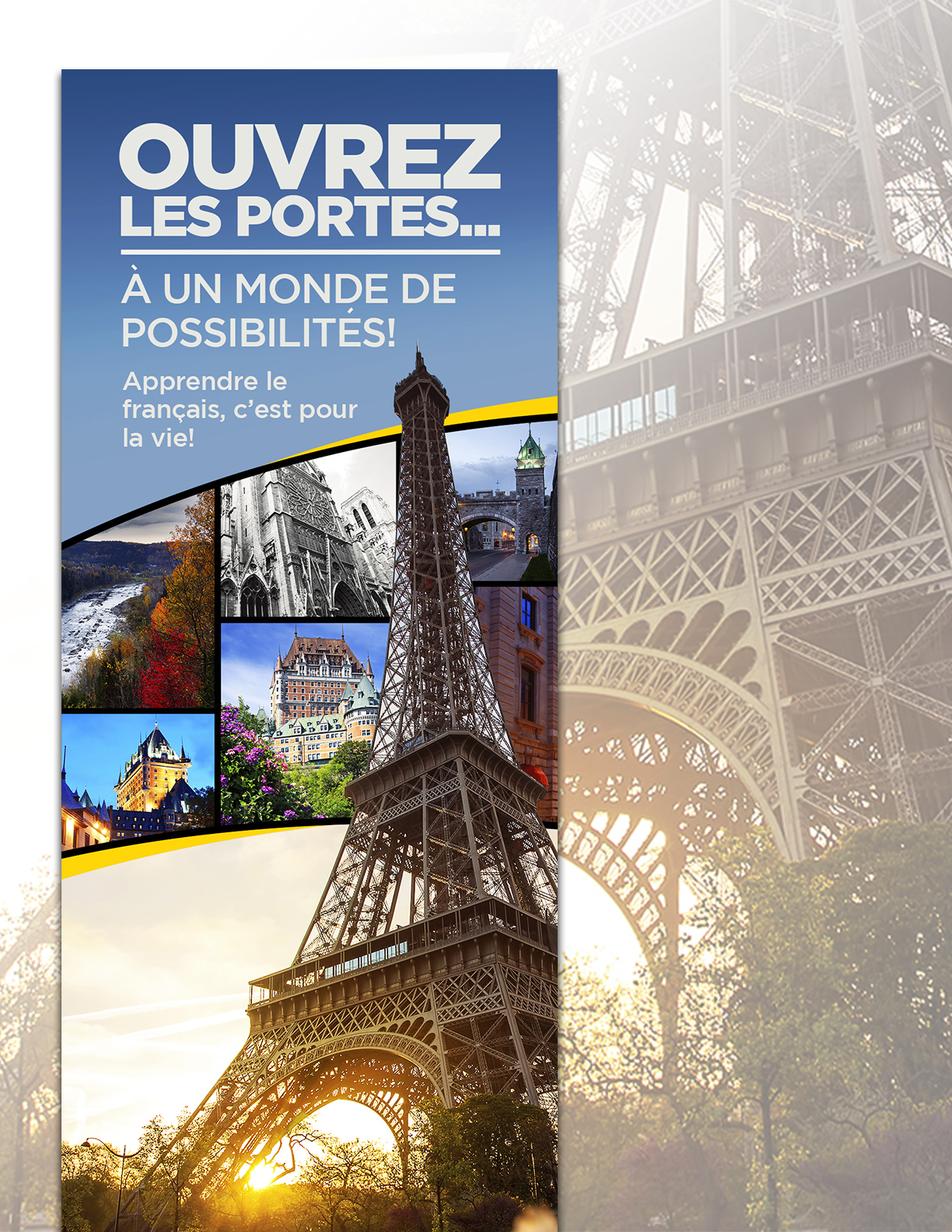 Paris promotional popup banner