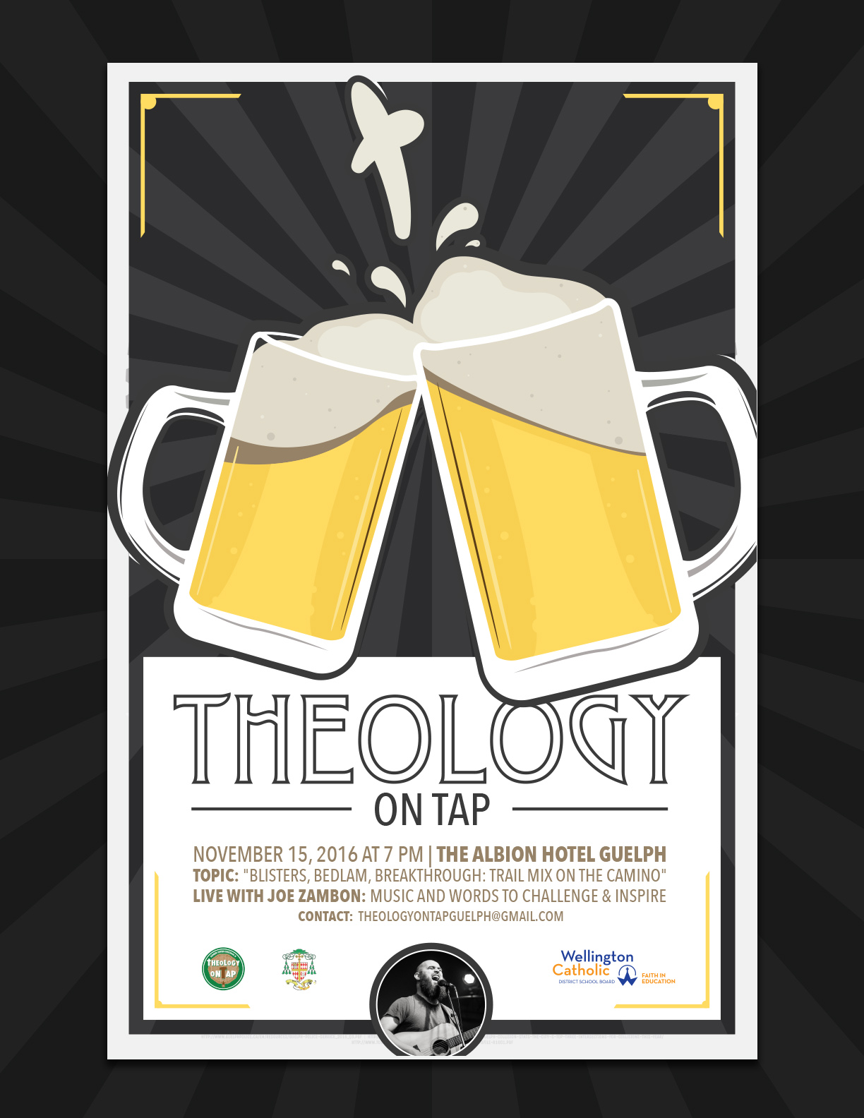Guelph Theology on Tap poster design